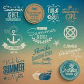 Summer vintage elements — Stock Vector