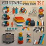 Retro infographics set. — Stock Vector #26610349