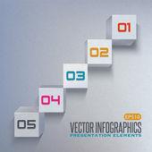 Gráfico de vetor de cubo 3d — Vetorial Stock