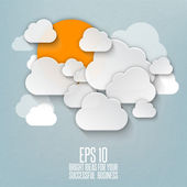 Abstract clouds used in a social networks — Stock Vector