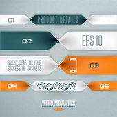 Ilustracja infografiki krok po kroku — Wektor stockowy