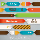 Candy ribbons illustration — Vecteur