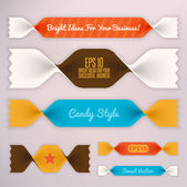 Candy ribbons illustration — Stock Vector
