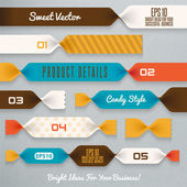 Candy ribbons illustration — Vector de stock