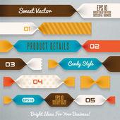 Ilustración de cintas de caramelo — Vector de stock