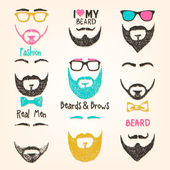 Set of beards — Stock Vector