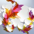 Abstract 3D Template with floral elements — Imagen vectorial