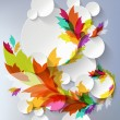 Abstract 3D Template with floral elements — 图库矢量图片 #28865961