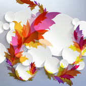 Abstract 3D Template with floral elements — Stock Vector