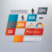 Step by step infographics illustration — Vector de stock