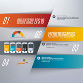 Step by step infographics illustration — Vettoriale Stock