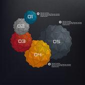 グラフのインフォ グラフィック イラスト — ストックベクタ