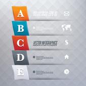 Stap voor stap infographics illustratie — Stockvector