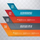 Steg för steg infographics illustration — Stockvektor