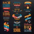 Back to School Calligraphic Designs — Imagen vectorial
