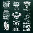Back to School Calligraphic Designs — Stock Vector