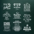 Back to School Calligraphic Design — Stok Vektör