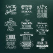 Back to School Calligraphic Design — Stock Vector