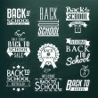 Back to School Calligraphic Design — Vettoriali Stock
