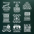Back to School Calligraphic Design — Stock Vector #29623437