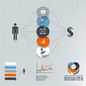 Toespraak bubble illustratie — Stockvector