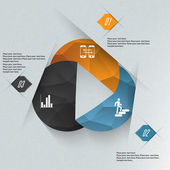 Infographics circles illustration. Business diagram. — Stock Vector