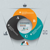 Infographics circles illustration. Business diagram. — ストックベクタ