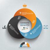 インフォ グラフィックの図を一周します。ビジネス図. — ストックベクタ