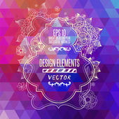 Colorful geometric background with triangles. — Vector de stock