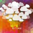 Abstract clouds used in social networks — Stok Vektör