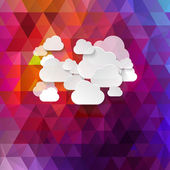 Abstract clouds used in social networks — Stock Vector
