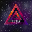 Hipster background made of triangles and space background  — Stock Vector