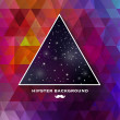 Stock vektor: Hipster background made of triangles and space background