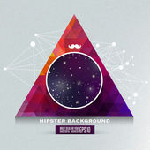 Hipster background made of triangles and space background — Stock vektor