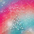 Vintage style Christmas labels on modern background — Image vectorielle