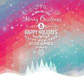モダンな背景にビンテージ スタイル クリスマス ラベル — ストックベクタ