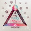 Christmas Greeting Card — Image vectorielle