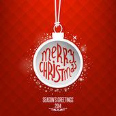 クリスマス ボールと背景 — ストックベクタ