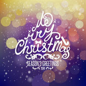 Christmas Greeting Card. Merry Christmas lettering — 图库矢量图片