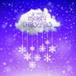 The Magic Christmas Cloud. Christmas background — Vektorgrafik