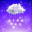 The Magic Christmas Cloud. Christmas background — 图库矢量图片