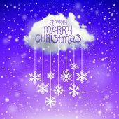 Magiska jul molnet. jul bakgrund — Stockvektor