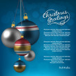 Holiday background with christmas balls — Imagen vectorial