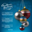 Holiday background with christmas balls — Stockvectorbeeld