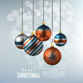Holiday background with christmas balls — Stock Vector