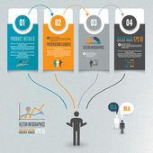 Ilustração infografia — Vetorial Stock
