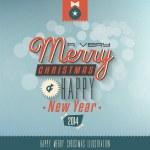 Christmas gratulationskort. Merry christmas bokstäver — Stockvektor  #33328557