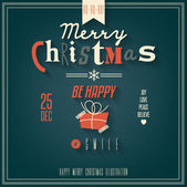 Christmas Greeting Card. Merry Christmas lettering — Stock Vector