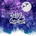 Christmas gratulationskort. Merry christmas bokstäver — Stockvektor  #35784065