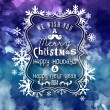 Christmas Greeting Card. Merry Christmas lettering. — стоковый вектор #35784159